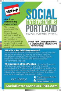 Social Entrepreneurs Meet Up Flier