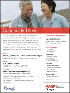 Connect and Thrive age 50 plus women's workshop March 18, at the CLIMB Center.