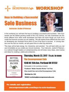 Keys to Building a Sccessful Solo Business Flier